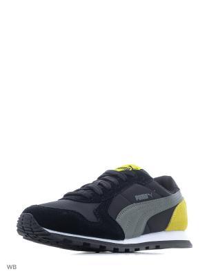 Кроссовки ST Runner NL Jr PUMA. Цвет: черный, желтый, серый