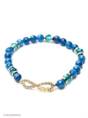 Браслет Taya. Цвет: синий, золотистый