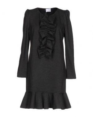 Короткое платье PINK BOW. Цвет: стальной серый