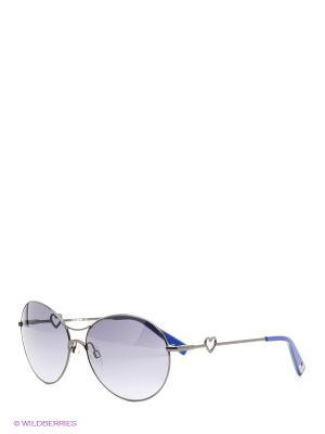 Солнцезащитные очки ML 514S 04 MOSCHINO. Цвет: серебристый, голубой