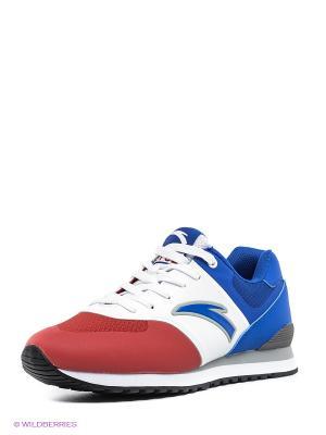 Кроссовки ANTA. Цвет: красный, белый, синий