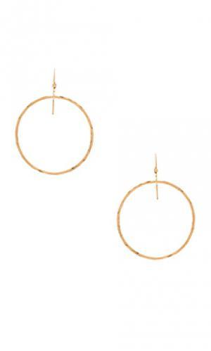 Серьги-кольца jackson Mimi & Lu. Цвет: металлический золотой