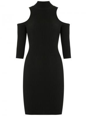 Трикотажное платье с вырезными деталями на плечах Cecilia Prado. Цвет: чёрный