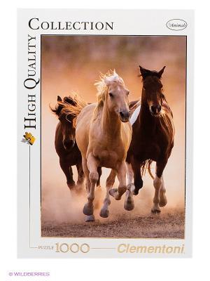 Пазл Бегущие кони Clementoni. Цвет: белый, коричневый