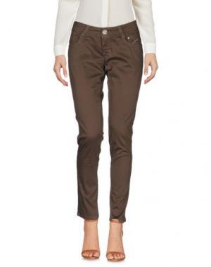 Повседневные брюки 9.2 BY CARLO CHIONNA. Цвет: темно-коричневый