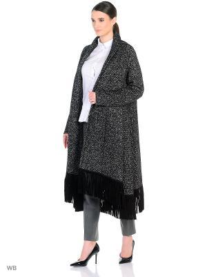 Пальто женское Lea Vinci. Цвет: черный