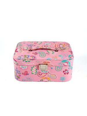 Шкатулка для ювелирных украшений 25*19*11см Русские подарки. Цвет: розовый