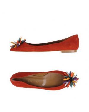 Балетки BIANCA DI. Цвет: красный