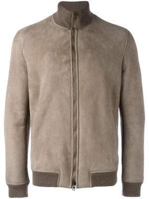 Куртка с деталями в рубчик Salvatore Santoro. Цвет: коричневый