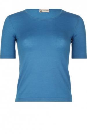 Вязаный пуловер Colombo. Цвет: синий