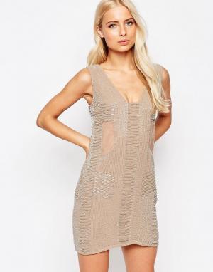 Walter Baker Расшитое бисером платье Toni. Цвет: розовый