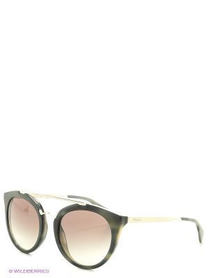 Очки солнцезащитные CINEMA PRADA. Цвет: серый