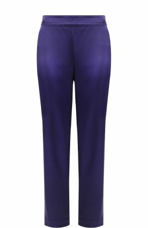 Укороченные брюки прямого кроя St. John. Цвет: фиолетовый