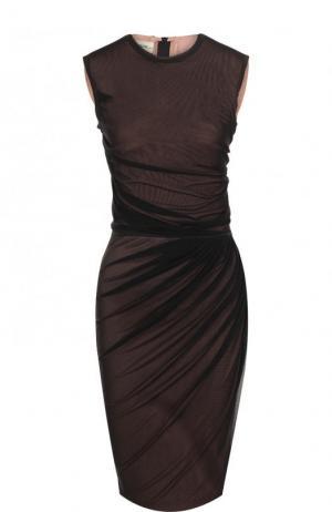 Платье-футляр с драпировкой By Malene Birger. Цвет: розовый