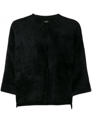 Пиджак с укороченными рукавами Twin-Set. Цвет: чёрный