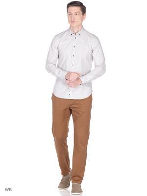 Рубашка Sisley. Цвет: серый, прозрачный