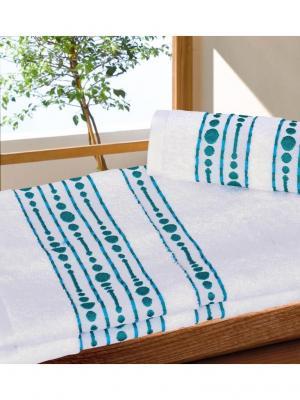 Набор махровых полотенец ВОЛНА белый (50*90+70*140) TOALLA. Цвет: белый