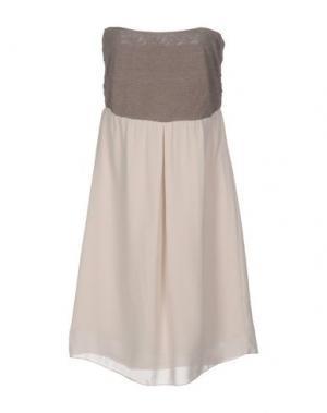 Короткое платье EMMA&GAIA. Цвет: бежевый