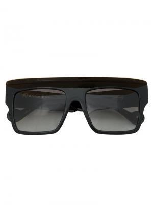 Солнцезащитные очки Shady Anna Karin Karlsson. Цвет: чёрный