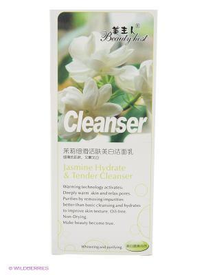 Гель для умывания ТМ BEAUTY HOST Jasmine hydrate & tender cleanser, 160 мл.. Цвет: светло-зеленый, прозрачный