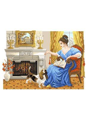 Рисунок на канве  Домашний уют Матренин Посад. Цвет: коричневый, синий