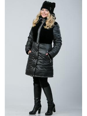 Пальто А Б Коллекция. Цвет: черный