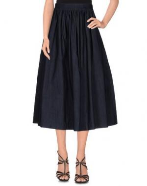 Джинсовая юбка NORA BARTH. Цвет: синий