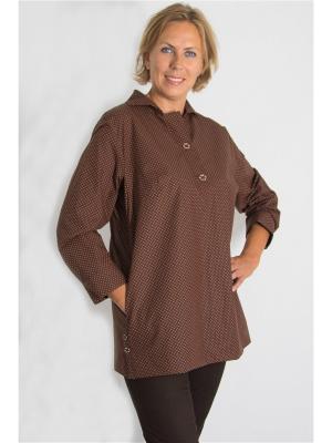Блузка Brava Catalan. Цвет: коричневый