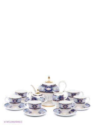 Чайный сервиз Флоренция Pavone. Цвет: белый, синий
