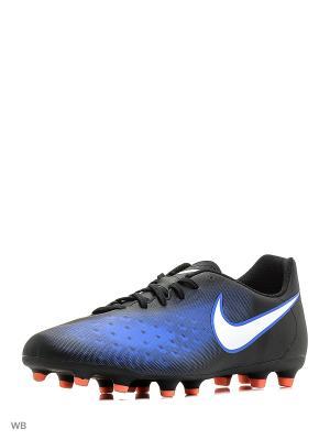 Бутсы MAGISTA OLA II FG Nike. Цвет: черный, белый, синий