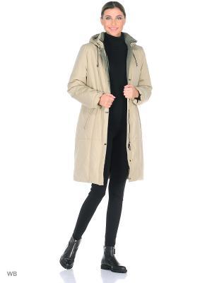 Пальто ORVOKKI Maritta. Цвет: оливковый