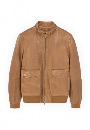 Куртка Mango Man. Цвет: коричневый