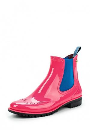 Резиновые полусапоги Trussardi Jeans. Цвет: розовый