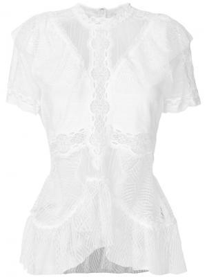 Кружевная блузка Jonathan Simkhai. Цвет: белый