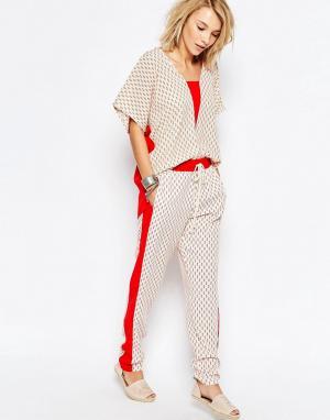 Deby Debo Спортивные штаны с вышивкой Gondar. Цвет: печатный