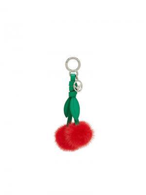 Подвеска для сумки Cherry Fendi. Цвет: красный