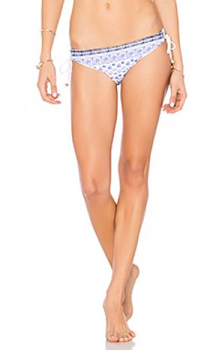 Lace back bikini bottom Shoshanna. Цвет: синий
