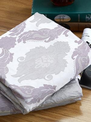 Шторы 270х275, жаккард, серо-сиреневый узор, 2 полотна Asabella. Цвет: серый, сиреневый