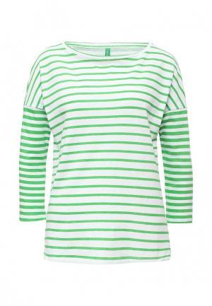 Лонгслив United Colors of Benetton. Цвет: зеленый
