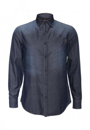 Рубашка джинсовая Trussardi Jeans. Цвет: синий