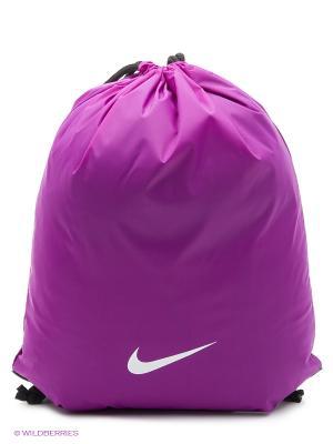Рюкзак FUNDAMENTALS SWOOSH GYMSACK Nike. Цвет: фиолетовый, черный