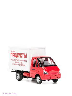Машинка Газель фургон Продукты Технопарк. Цвет: красный, белый