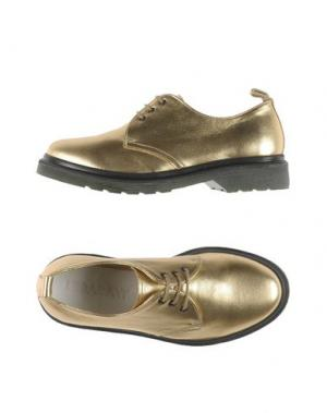 Обувь на шнурках LEQARANT. Цвет: золотистый