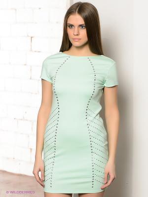 Платье CONVER. Цвет: светло-зеленый