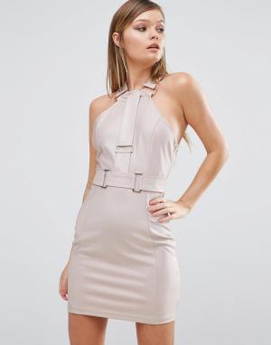 Rare Платье мини. Цвет: розовый