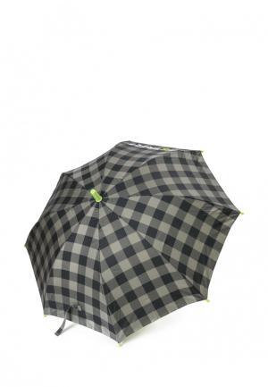 Зонт-трость PlayToday. Цвет: серый