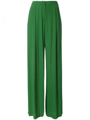 Широкие брюки Bianca Spender. Цвет: зелёный