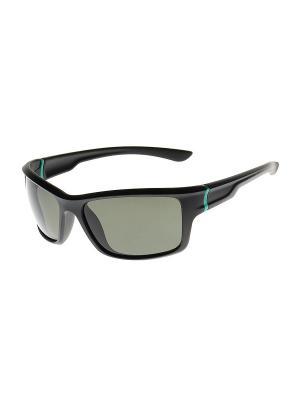 Солнцезащитные очки Gusachi. Цвет: черный, зеленый