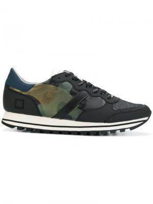 Камуфляжные кроссовки D.A.T.E.. Цвет: чёрный
