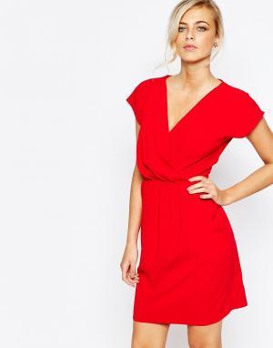 Closet London Платье-футляр 2 в 1 с запахом спереди. Цвет: мульти